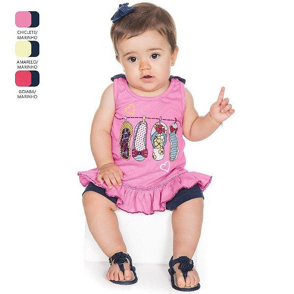 Conjunto para Bebê Menina Regata e Short (Verão)