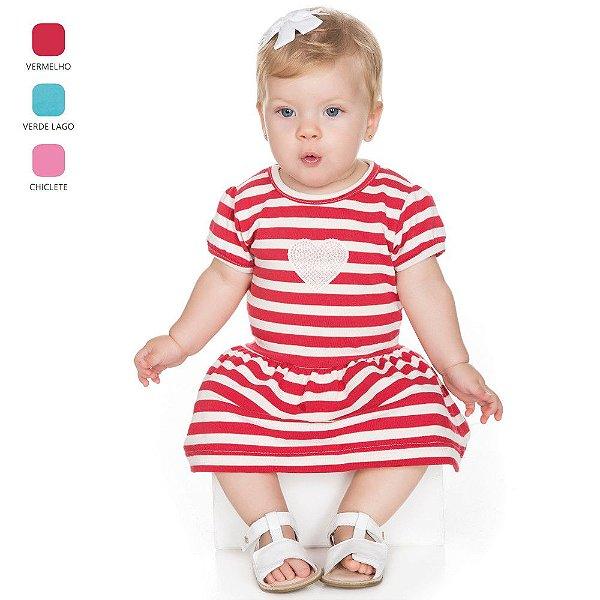 Vestido para Bebê Menina Modelo Meia Manga (Verão)