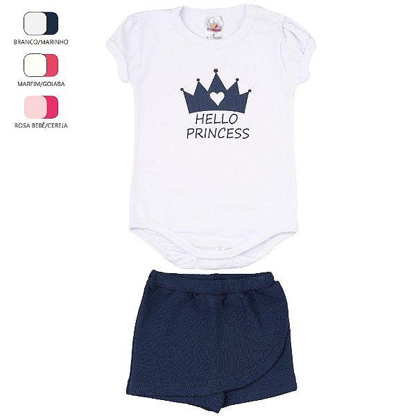 Conjunto Body e Short Saia para Bebê Menina (Verão)