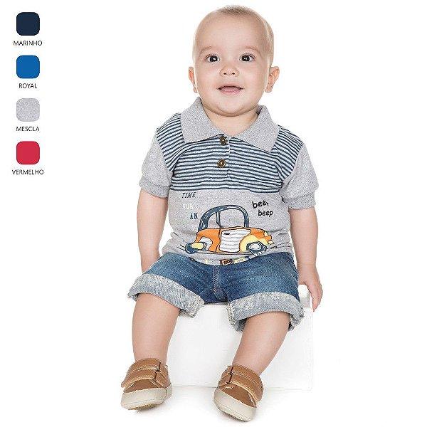 Camiseta para Bebê Menino Gola Polo (Verão)