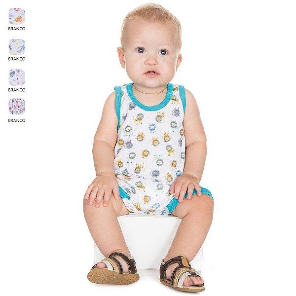 Macacão Regata Estampado para Bebê Unissex (Verão)