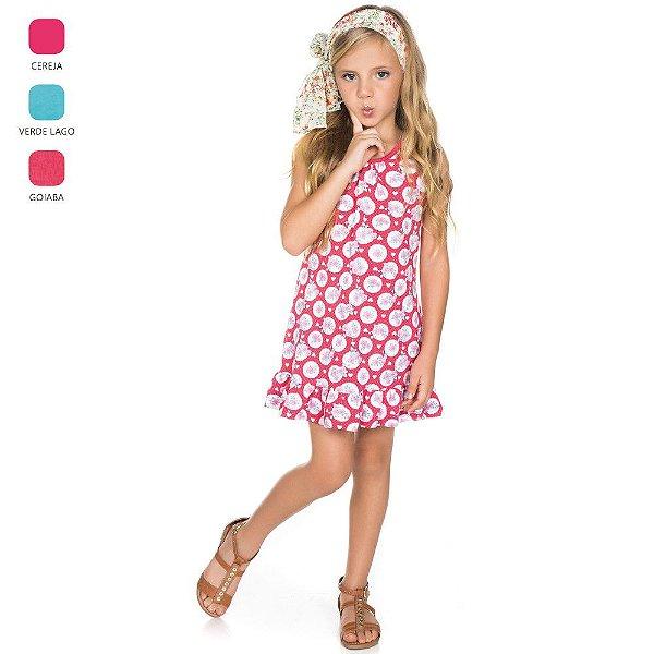 Vestido Regata Estampada Infantil para Menina (Verão)