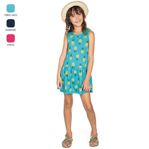 Vestido Regata de Meia Malha Infantil para Menina (Verão)