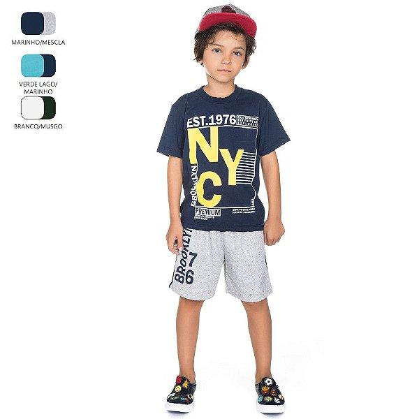 Conjunto Infantil para Menino Camiseta e Bermuda (Verão)