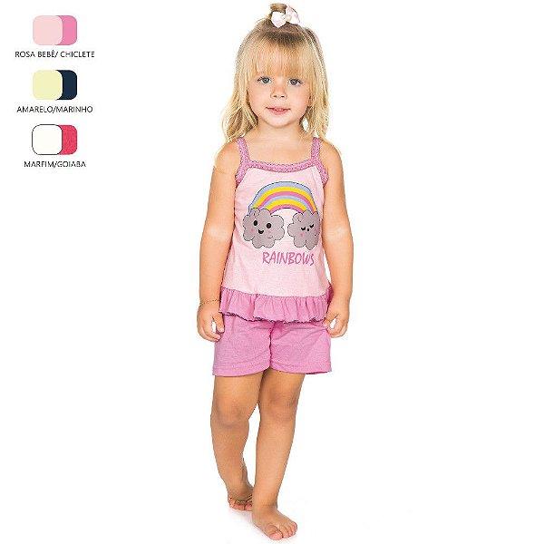 Pijama Infantil para Menina Camiseta de Alcinha (Verão)