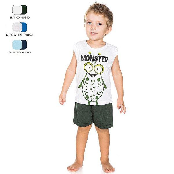 Pijama Infantil que Brilha no Escuro para Menino (Verão)