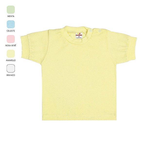 Kit 3 Camisetas para Bebê Unissex Cores Sortidas (Verão)