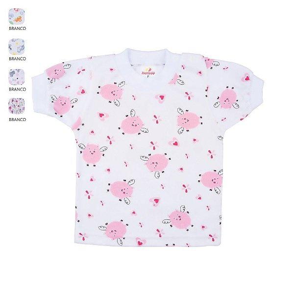 Kit 3 Camisetas para Bebê Unissex Estampas Sortidas (Verão)