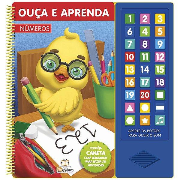 Livro Infantil Sonoro Ouça e Aprenda Números