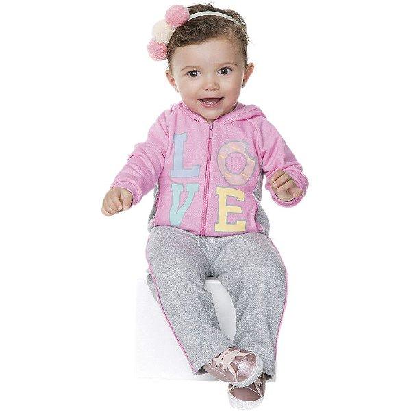Conjuntinho Longo de Inverno Isensee Bebê Menina Love - Bebê e Arte ... 799c785ff92