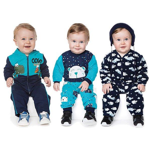 Kit 3 Conjuntos de Inverno Bebê Menino 0 a 12 meses - Bebê e Arte ... 649e290051f