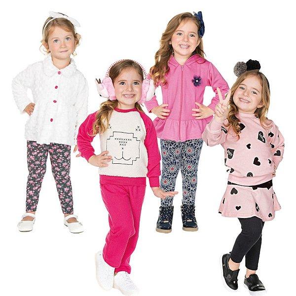 Roupa Infantil Menina Kit 4 Conjuntos de Inverno Isensee