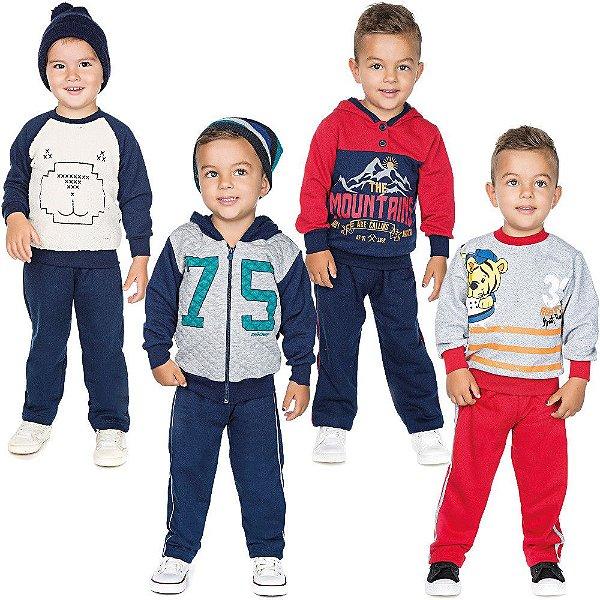 Roupa Infantil Menino Kit 4 Conjuntos Longo Inverno Isensee