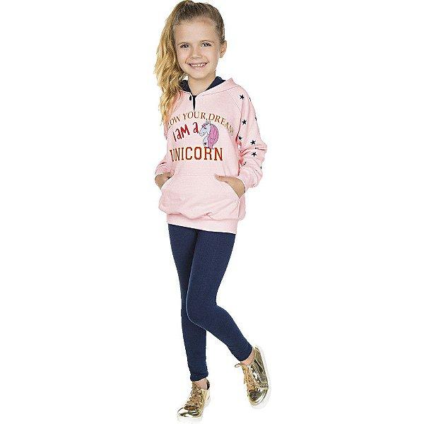 Roupa Infantil Menina Conjunto Legging e Casaco Isensee