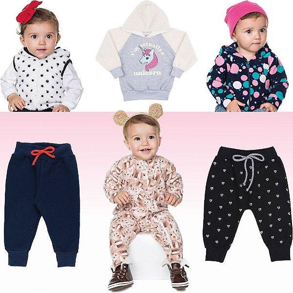 Roupas de Inverno Isensee para Bebê Menina Kit 6 Peças