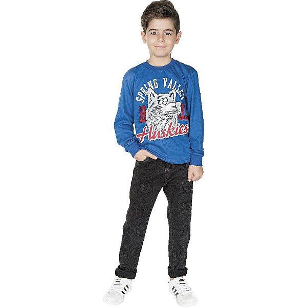 Roupa Infantil Menino Camiseta Manga Longa Inverno Isensee