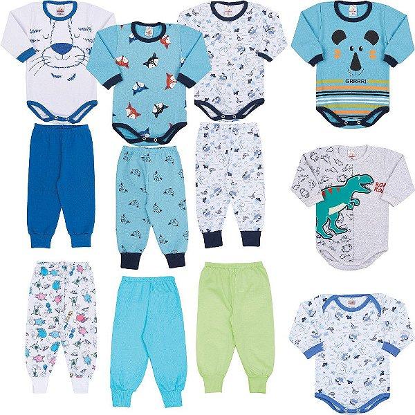 0f0a545af Kit 12 Roupinhas de Inverno para Bebê Menino 0 a 12 meses - Bebê e ...