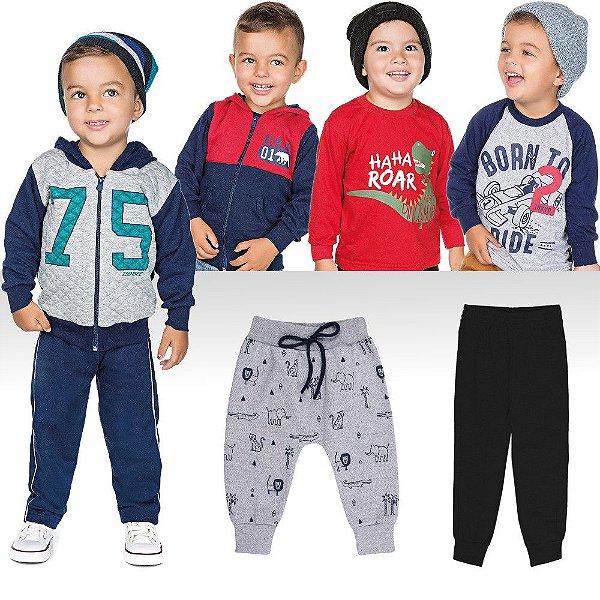 Kit Roupa Infantil de Inverno para Menino Calças e Casacos - Bebê e ... 61615f0c850