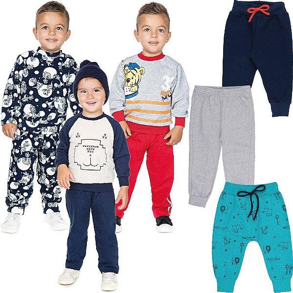 Roupa Infantil Menino Kit 9 Peças Conjunto Calça e Casaco