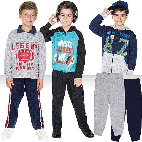 Roupa Infantil Menino Kit 7 Peças Conjuntos Jaqueta e Calças