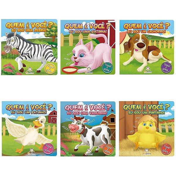 Coleção com 6 Livros Infantis Blu Editora: Quem é você?