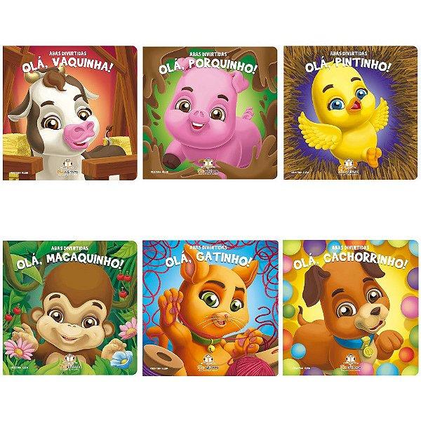 Coleção 6 Livros Infantis Blu Editora Abas Divertidas