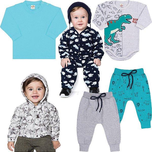 Roupa Bebê Menino Kit 7 Peças Roupinhas de Inverno Isensee