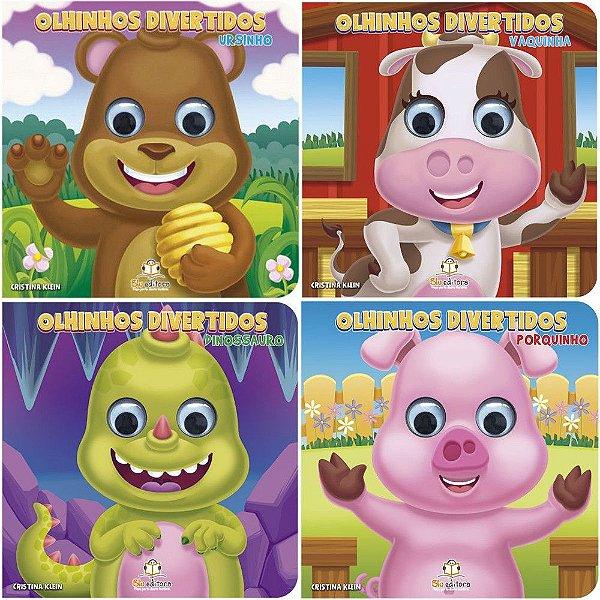 Coleção 4 Livros Infantis Olhinhos Divertidos