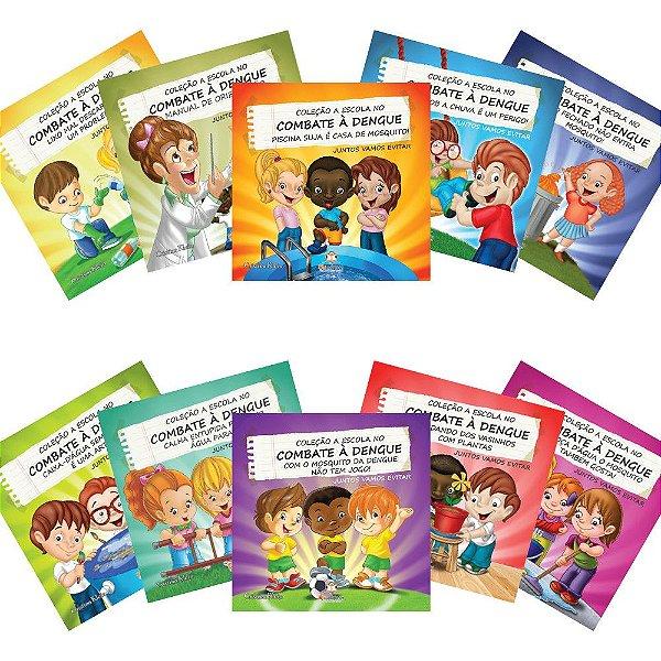 Coleção A Escola no Combate a Dengue 10 Livros Blu Editora