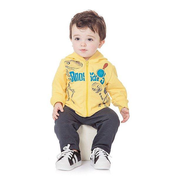 Roupa Bebê Menino Conjunto Jaqueta e Calça Inverno Abrange