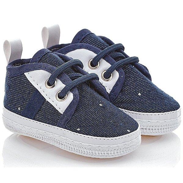 Sapatinho Tênis Bebê Menino Jeans Linha Premium Baby Gut