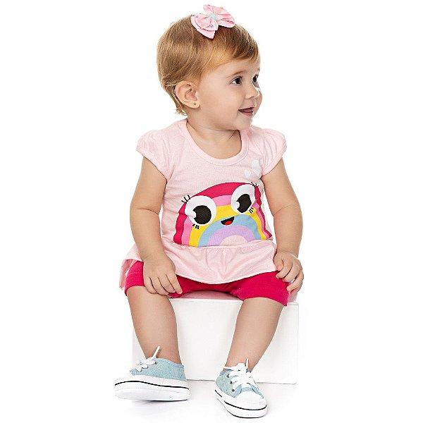Roupa Bebê Menina Conjunto Camiseta e Shorts Verão Isensee