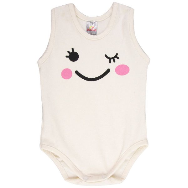 Roupa Bebê Menina Body Regata de Suedine Curto Verão Isensee