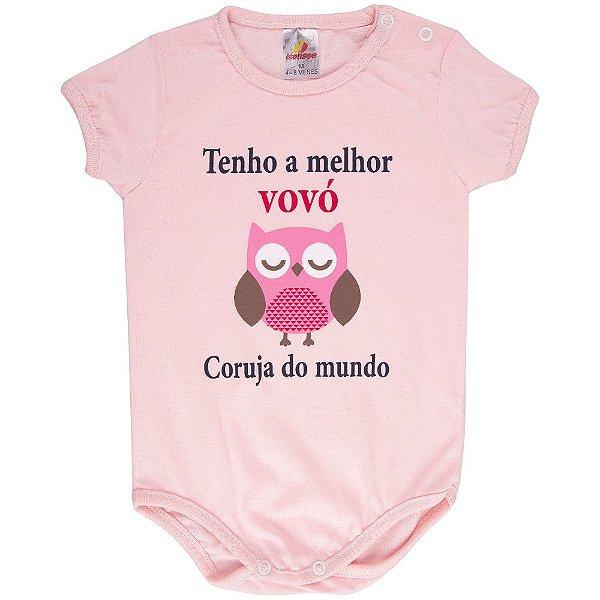 Roupa Bebê Menina Body Curto de Verão Isensee com Dizeres