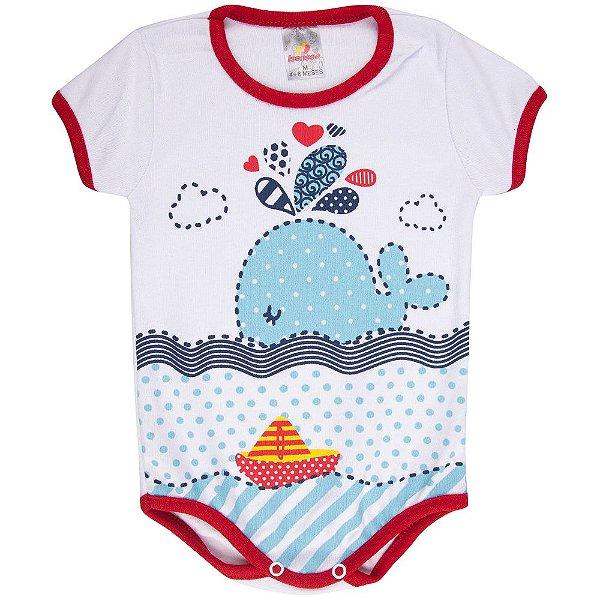 Roupa Bebê Menina Body Curto de Suedine Verão Isensee