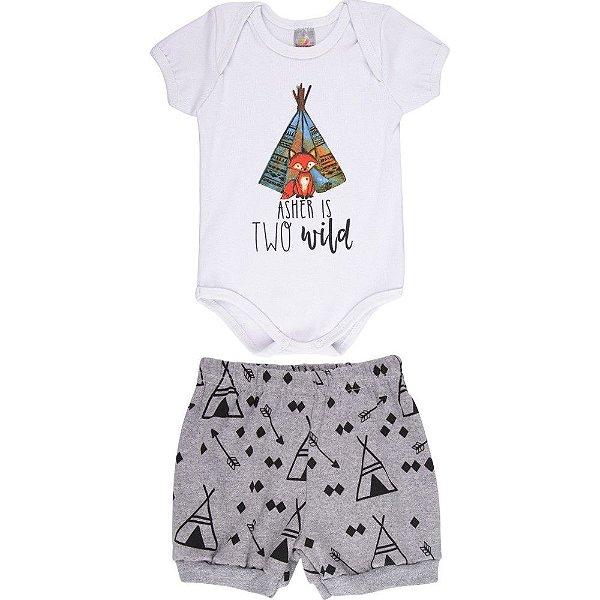 Roupa Bebê Menino Conjunto Body e Shorts Verão Isensee Wild