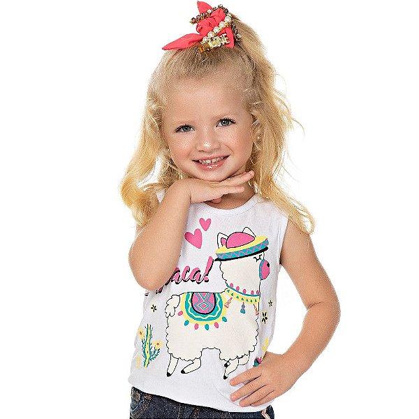 Roupa Bebê Infantil Menina Blusa Regata de Cotton Isensee