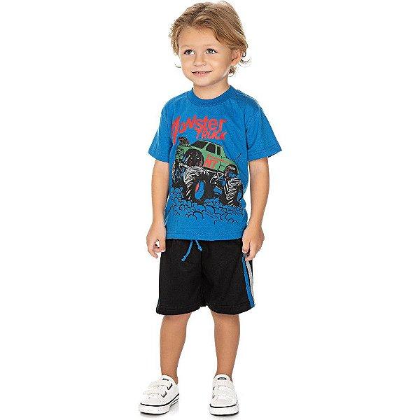 Roupa Bebê Infantil Menino Conjunto Camiseta e Bermuda Truck