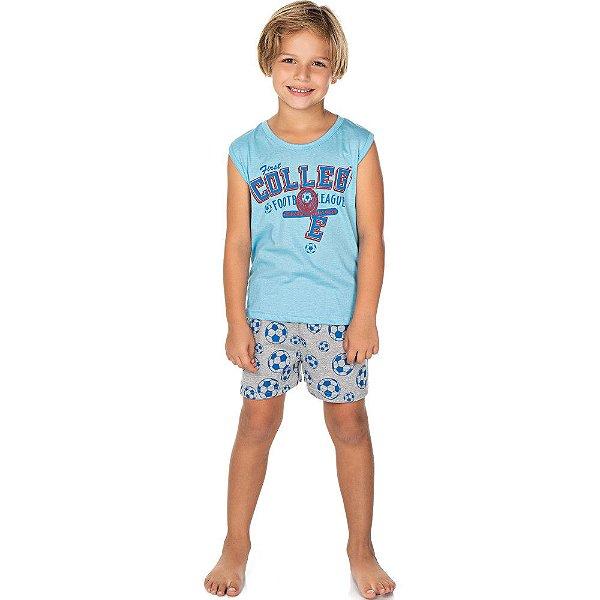 Roupa Infantil Menino Pijama Curto Camiseta Machão e Shorts