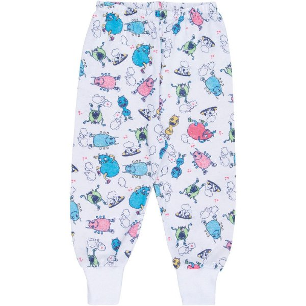 Roupa Bebê Menino Menina Calça Pijama Mijão Estampa Rotativa