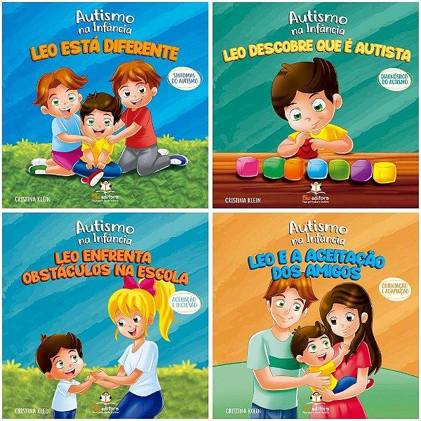 Coleção Autismo na Infância Blu Editora 4 Livros