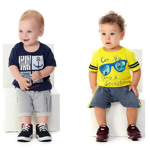 Kit Roupinhas de Bebê 2 Conjuntos Curtos Camiseta e Bermuda