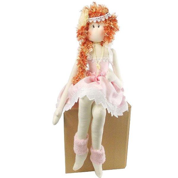 Boneca Bailarina Sentada Charlotte