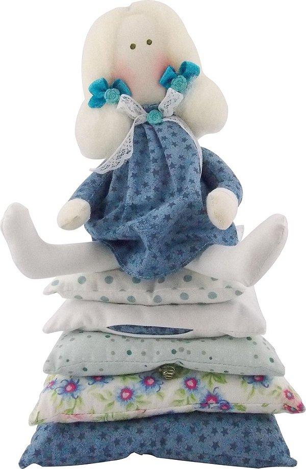 Boneca de Pano Princesa Ervilha Loira