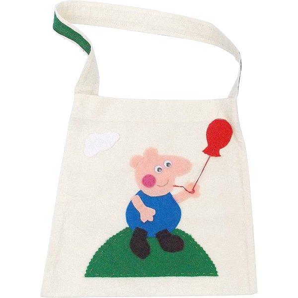 Sacola de Lembrança para Festa Infantil do George Pig 6 Unidades