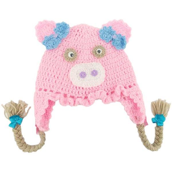 Touca de Lã Modelo Porquinha