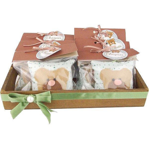 Lembrancinhas para Bebê Saquinhos Perfumados Modelo de Ursinho 12 Unidades