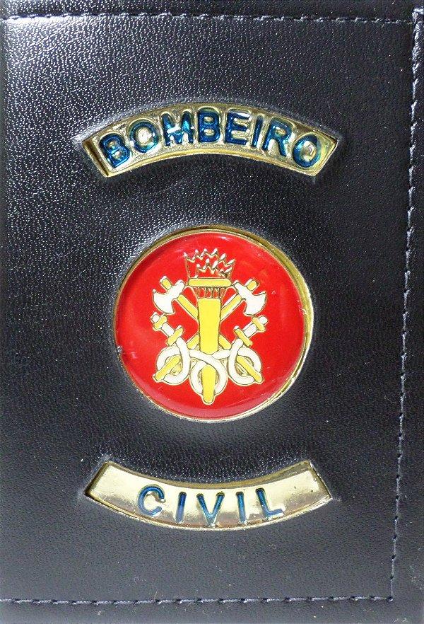 Carteira bombeiro civil cor preta