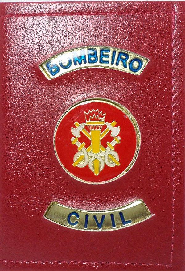 Carteira bombeiro civil vermelha - BRAVO21 artigos civil e militares 89d5cb42c16