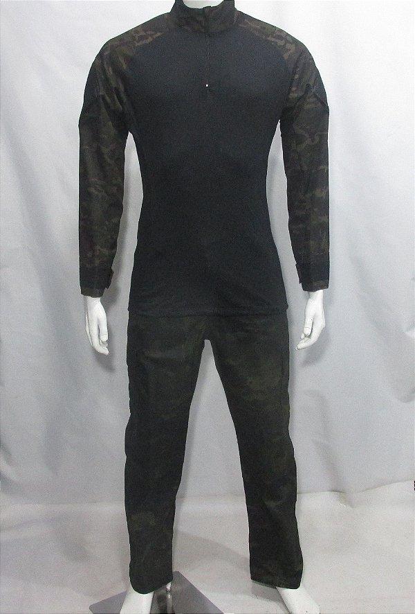 Calça e Combat t-shirt Multicam black